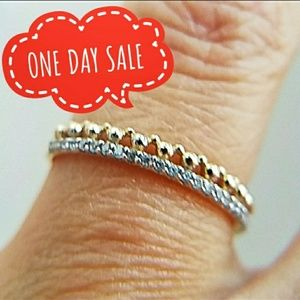 Jewelry - Dainty 14k Yellow Gold Stackable Band Ring
